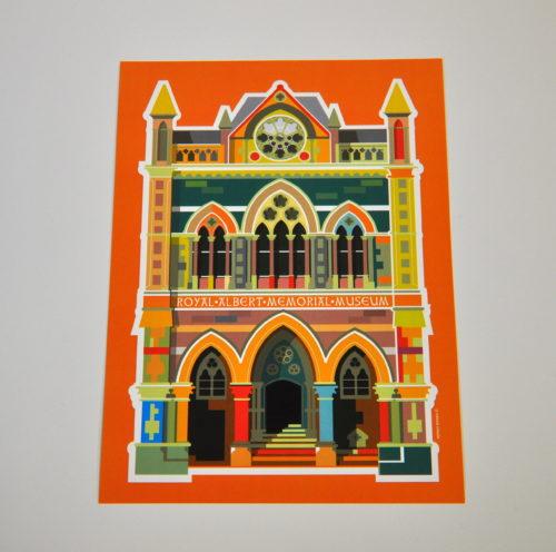 Walls of colour, RAMM print by Aylwyn Bowen