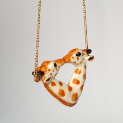 And Mary kissing giraffes necklace