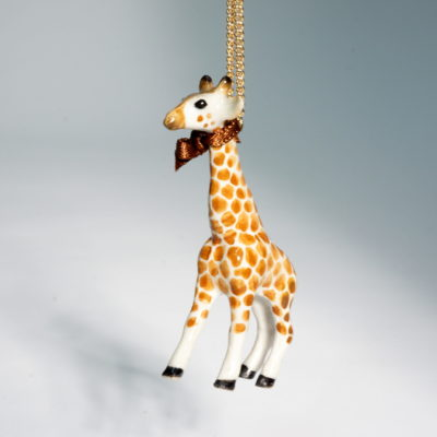And Mary single giraffe necklace