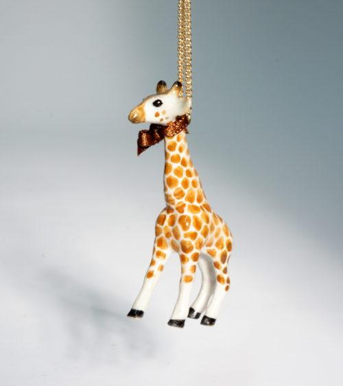 And Mary single giraffe necklace