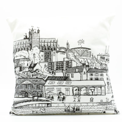 Exeter cityscape cushion cover with Cathedral