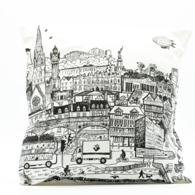 Exeter cityscape cushion cover with RAMM