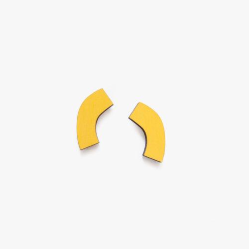 Materia Rica stud earrings yellow