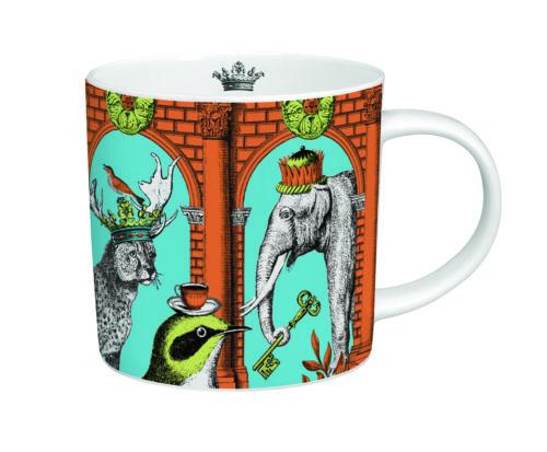 Menagerie elephant mug orange