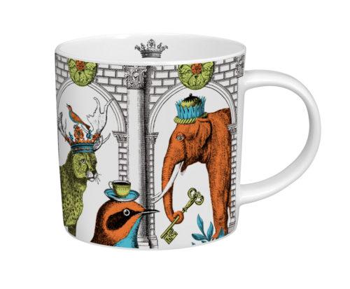 Menagerie elephant mug white