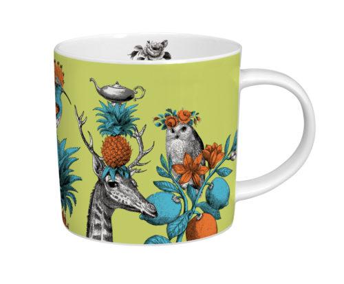 Menagerie giraffe mug green