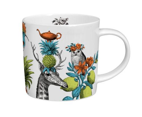 Menagerie giraffe mug white