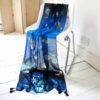 Papillon blue scarf