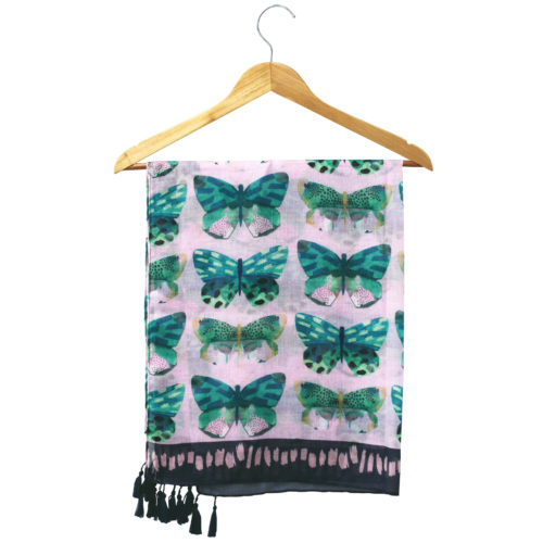 Papillon pink scarf