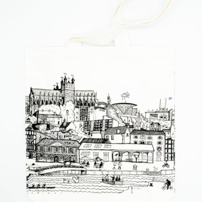 Exeter cityscape tote bag