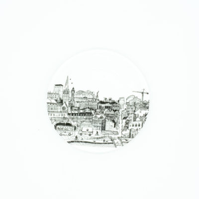 Exeter cityscape china coaster with RAMM