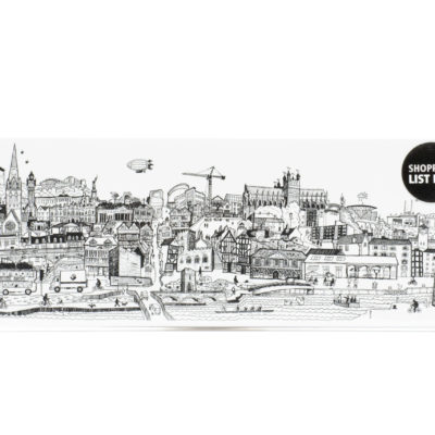 Exeter cityscape notepad
