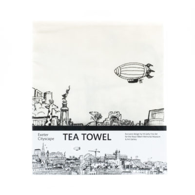 Exeter cityscape tea towel