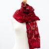Red felt and silk fairtrade scarf