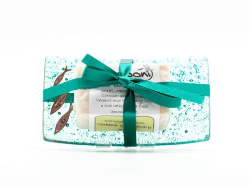 Jo Downs sea-green soap dish