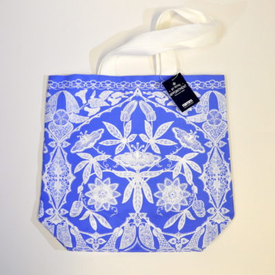 Lace design canvas bag
