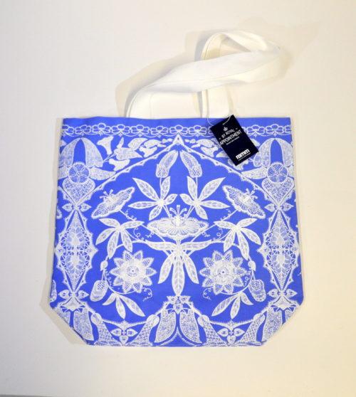 Lace design canvas bag