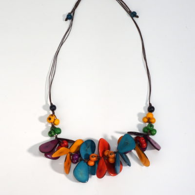 Tagua bead butterfly necklace