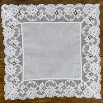 Kitty Fisher lace handkerchief
