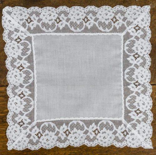 Kitty Fisher lace handkerchief