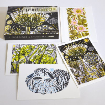 Angie Lewin postcard pack