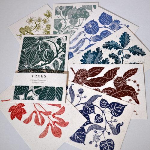 Isla Middleton trees postcard set