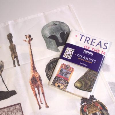 Treasures of the Museum Tea Towel